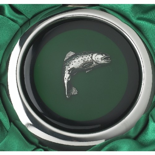 Close-up of the Fish Design on the Whiskey Flask