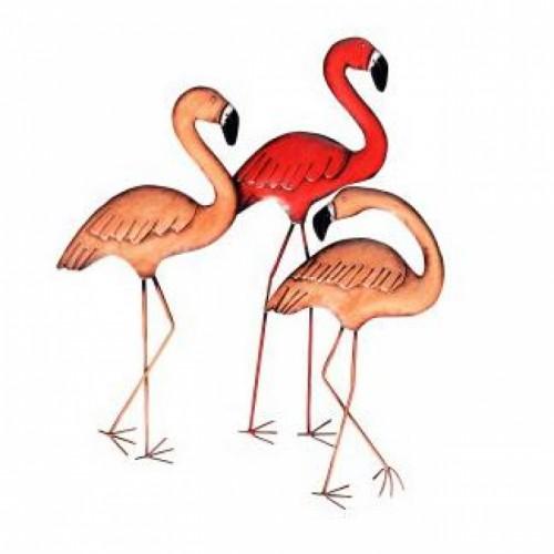 Flamboyance of Flamingos Wall Art in Pink