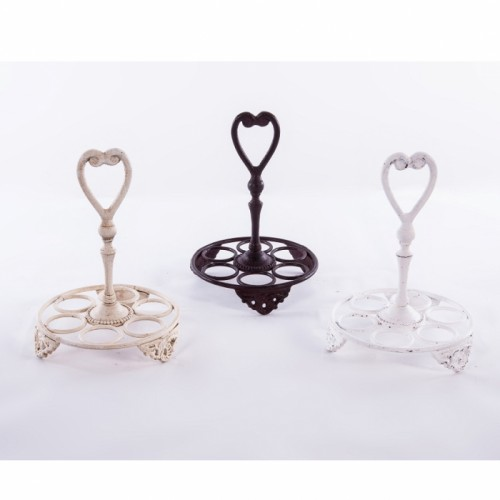 Heart Design Egg Holder In Three Different Finishes