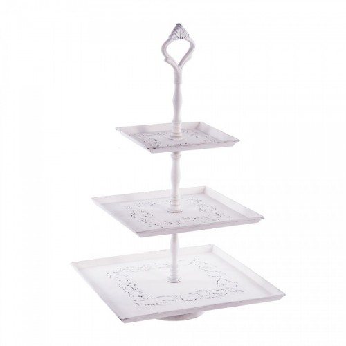 Three Tier Cake Stand in White