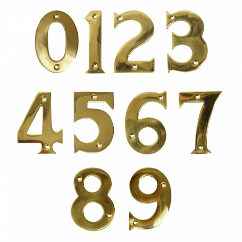Polished Brass Numbers Face fix for mounting