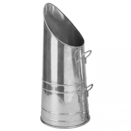 Traditional Coal Hod Finished in a Galvanised Steel