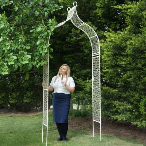 Cottage garden cream rose arch