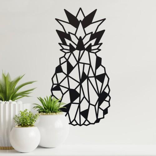 Geometric Steel Pineapple Wall Art in the Home