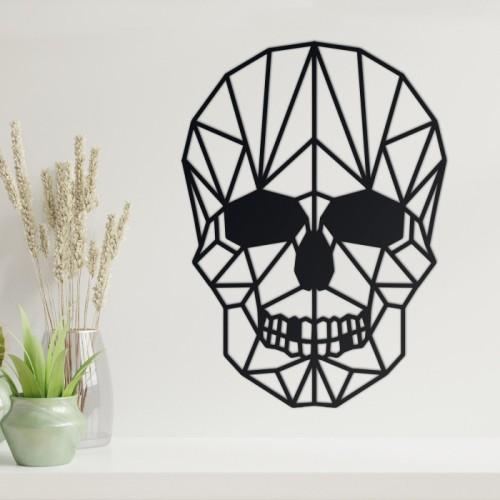 Geometric Skull Steel Wall Art