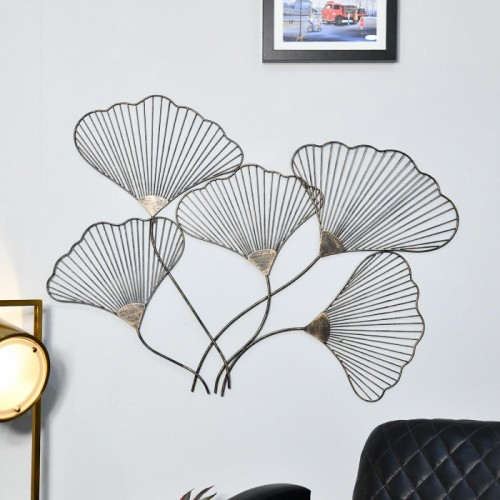 """Ginkgo leaves"" Wall Art in a Modern Sitting Room"