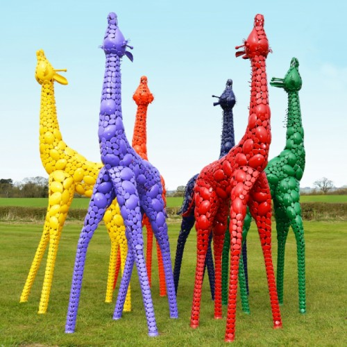 Coloured Giraffe Sculpture in Various Colours