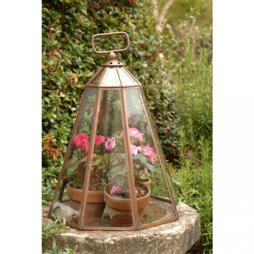 Copper and Glass Small Bell Cloche