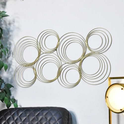 Gold Spiral Wall Art in Situ