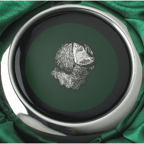 Close-up Of Golden Retriever On Whiskey Flask