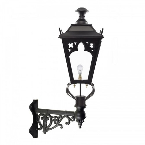 Gothic Style Lantern on an Ornate Corner Bracket