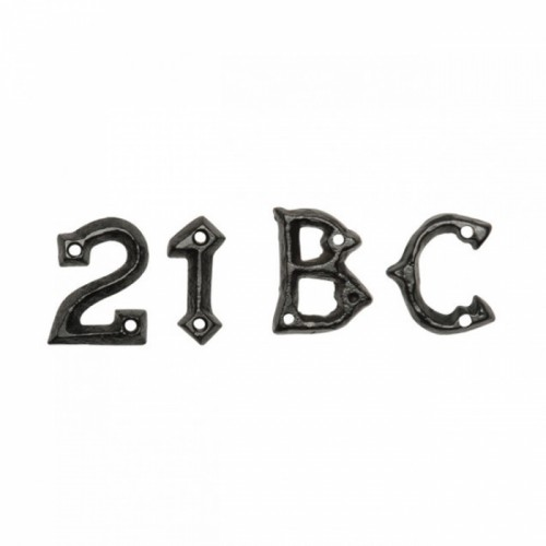 1 ¾ Inch Malleable Iron Gothic Letters & Numerals