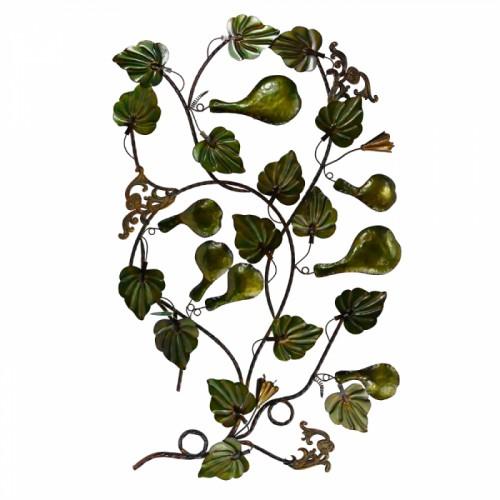 Green Gourd Floral Wall Art