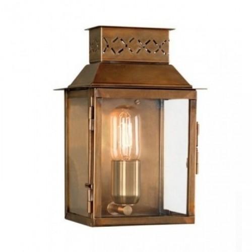 """""""Martellen Park"""" Vintage Half Wall Lantern Finished In a Polished Brass"""