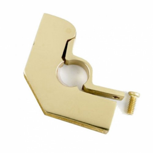 "Brass High Style Hinged Carpet Bracket with Flat Head Screw - 3/4"" In Brass"
