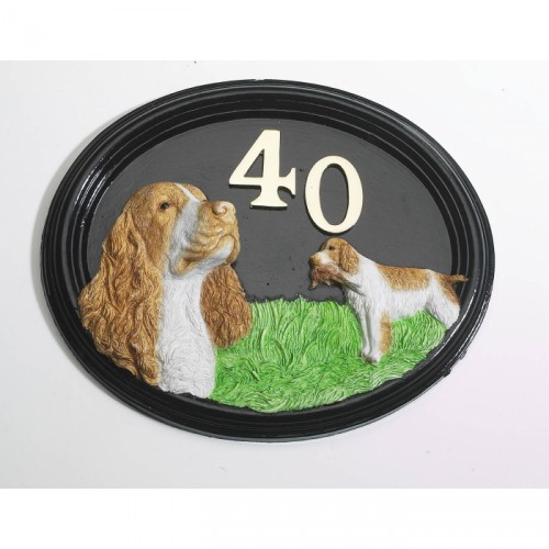House Sign - Hand Painted - Spaniel - House Sign