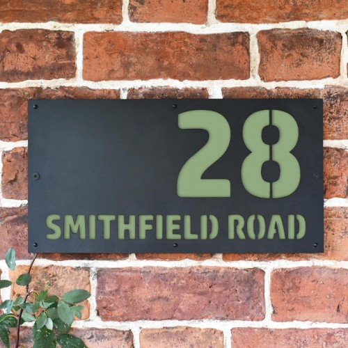 """""""Smithfield"""" House Sign Finished in a Pale Green"""