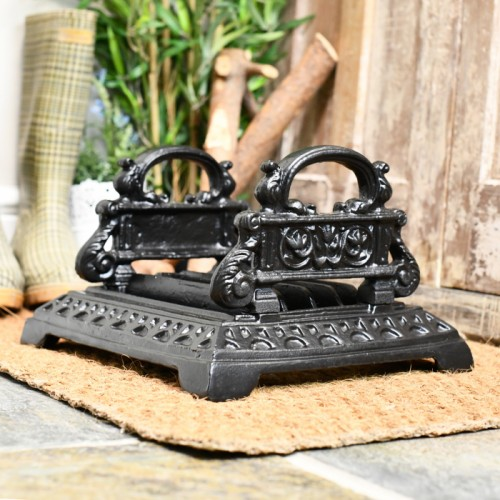 Cast iron heavy duty boot scraper