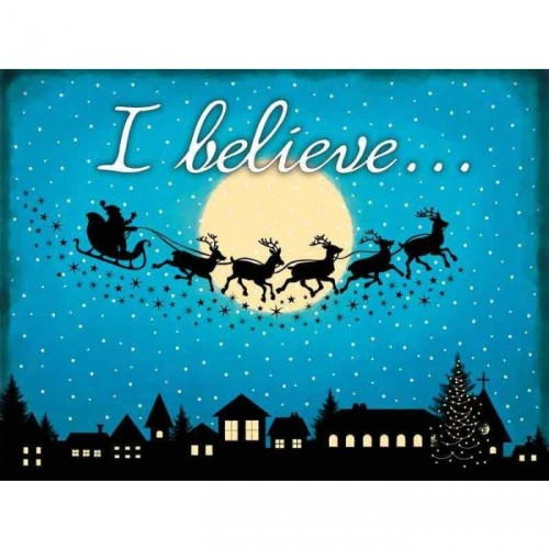I Believe in Christmas Metal Sign
