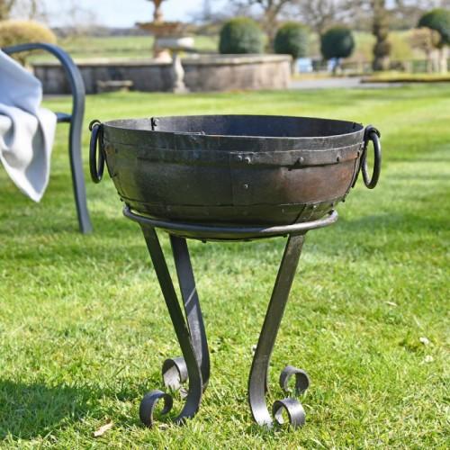 40cm Iron Kadai Fire Bowl in Situ