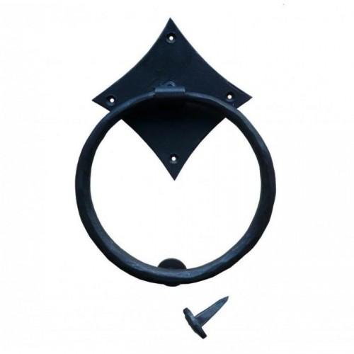 Iron Ring Door Knocker Finished in Black