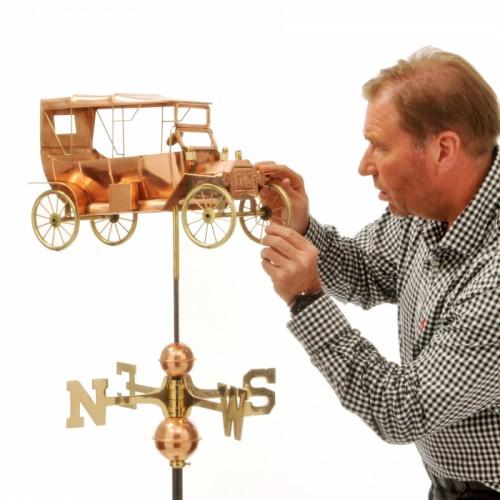 Tin Lizzie Vintage Car Copper Weathervane