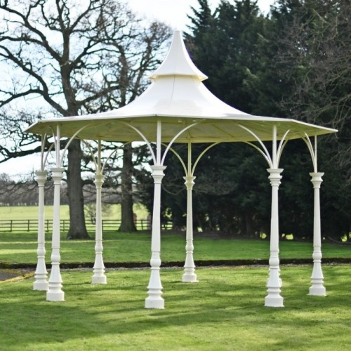 """""""Lady Antoinette"""" Large Cream Garden Bandstand Finished in Cream"""