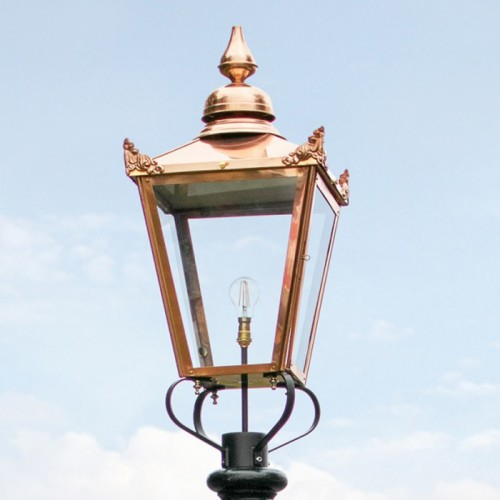 Copper Victorian Large Lamp Post Top