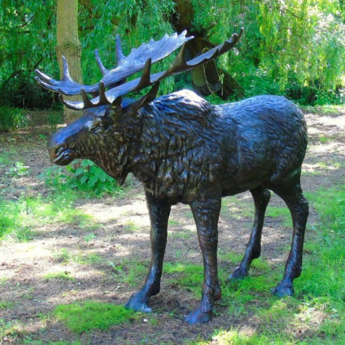 Large Moose Garden Sculpture