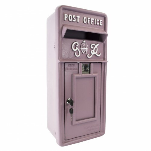 Slim King George Post Box In Savannah Sunset Pink