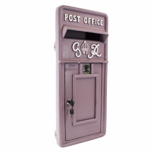 King George Rex Post Box Front - Purple
