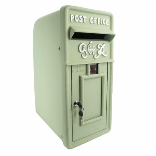 Mint Green King George Post Box