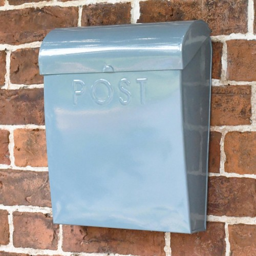 Simplistic mail box mounted on wall