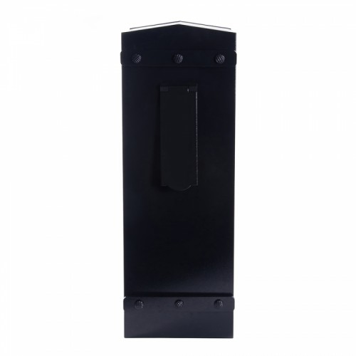 """Royal Bellman"" High security, letter box for Security Gates and Fencing Finished in Black"