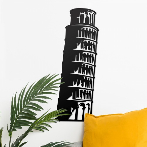 Leaning Tower of Pisa Wall Art in Situ in the Sitting Room