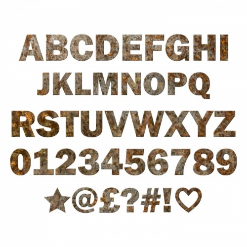 Individual Letters & Numbers- Rustic