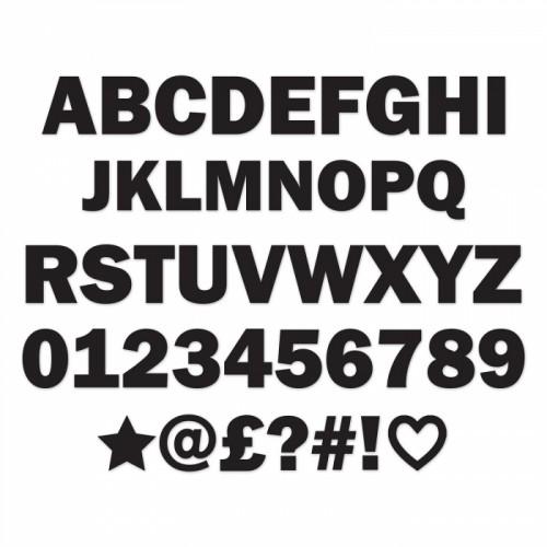 Individual Metal Letters & Numbers - Black