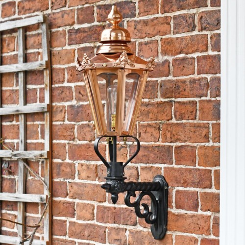 Exterior garden wall lantern on bracket