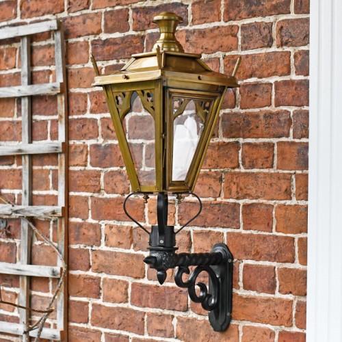 Antique Brass Gothic garden lantern