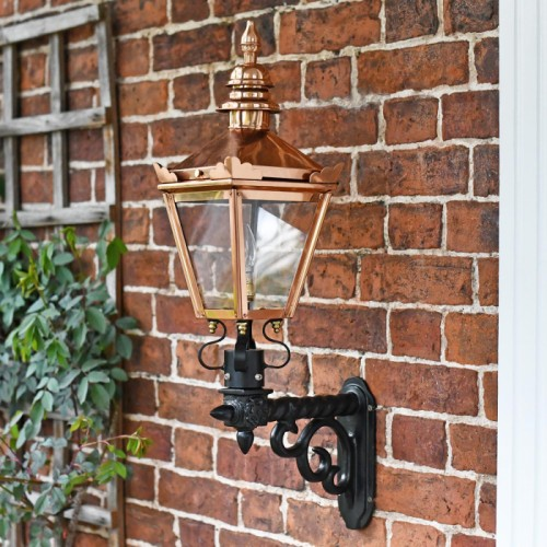 Copper Harrogate Wall Lantern On Royale Bracket 77 x 37cm