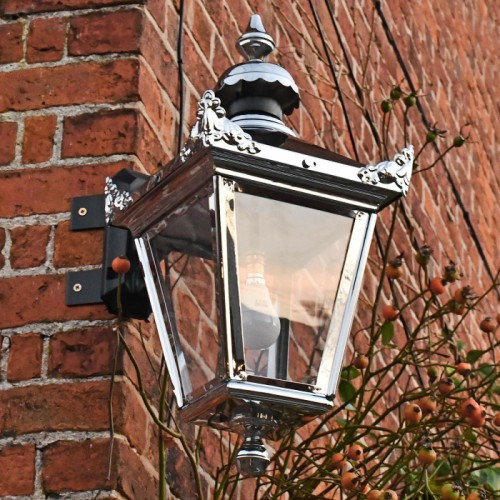 Victorian Wall Lantern On Corner Bracket