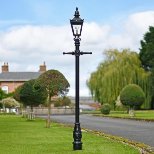 Harrogate Garden Lamp Post Set In Black