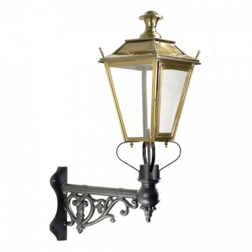 Brass Dorchester Lantern On Ornate Corner Bracket
