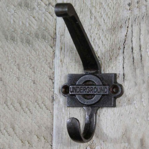 """London Underground"" Iron Coat Hook"