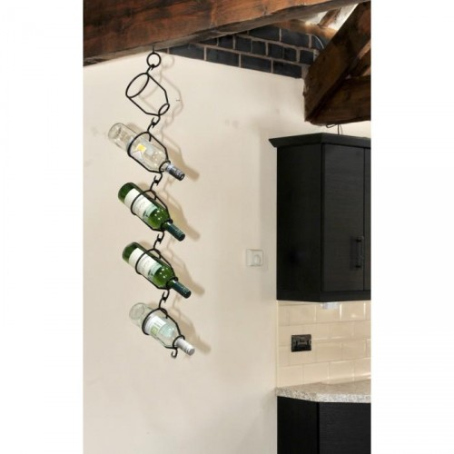 """Lotta"" Bottle Hanging Ceiling Wine Rack in Situ on a Wall"