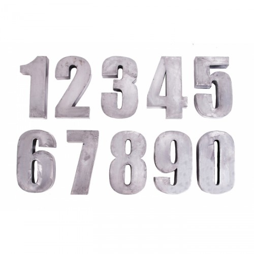 "Fabricated 12"" Steel Numbers 0 to 9"