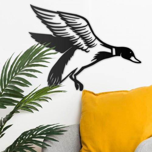 """Mallard"" Duck Wall Art in Situ on a Rustic in the Home"