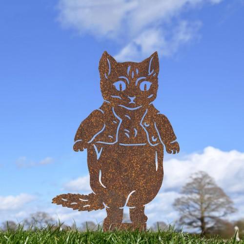 Rustic Master Kitten Silhouette in Situ