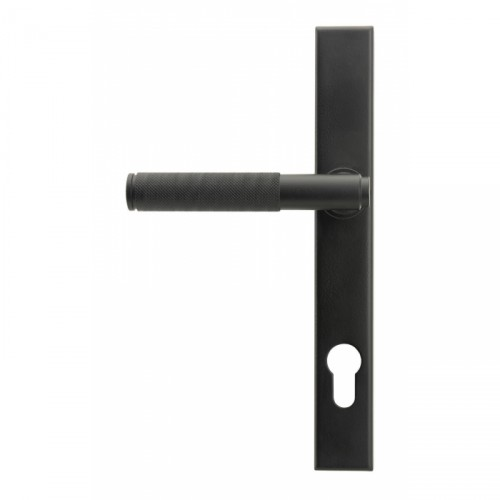 Matte Black Slimline Lever Espag Door Handle Front