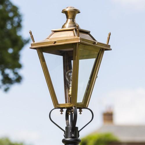 Medium Antique Brass Dorchester Lamp Post Top